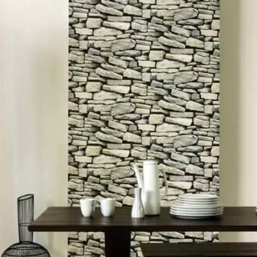 Papel tapiz imitaci n de piedras for Papel piedra pared