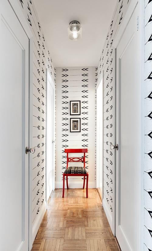 papel pintado en pasillos