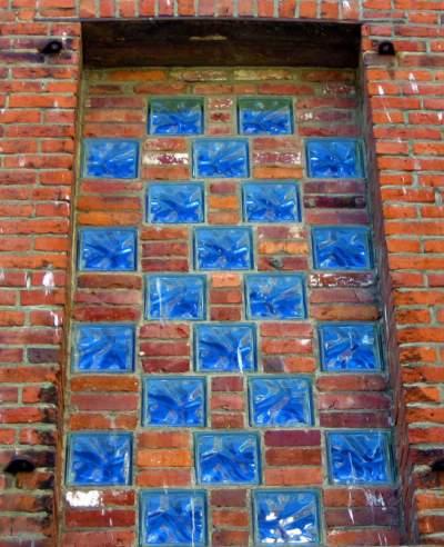 bloques de vidrio en paredes