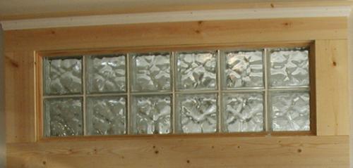 muros con bloques de cristal