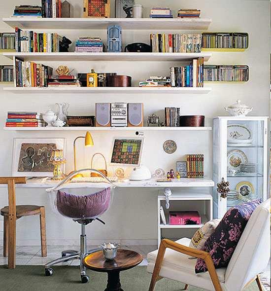 C mo decorar una zona de trabajo en casa - Decoracion de estudios pequenos ...