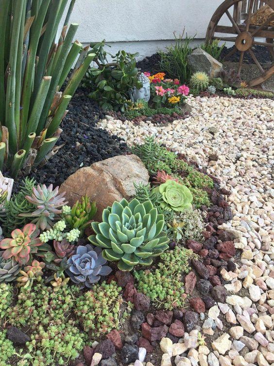 piedras en el jardin