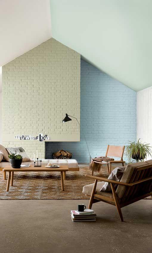 salón pintado en dos colores