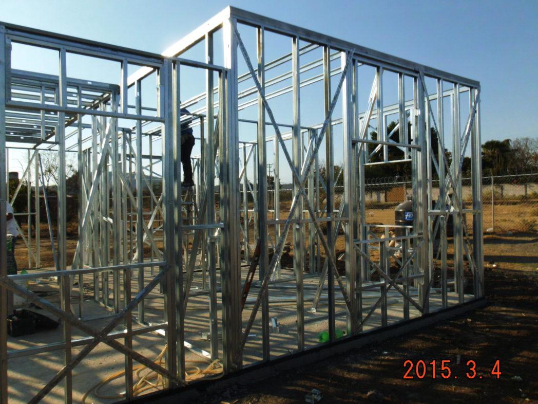 estructura de casa prefabricada