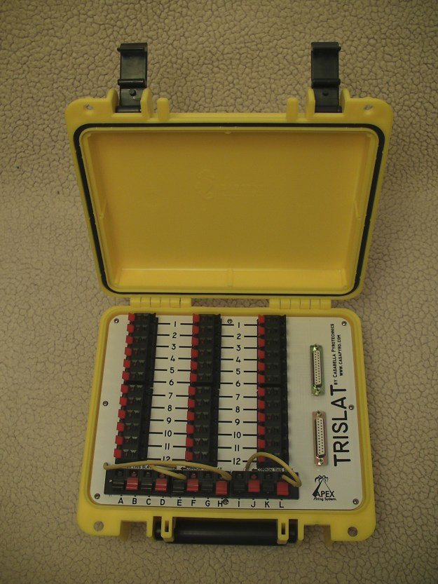 TRISLAT; 3 separate slats in one easy to handle Seahorse case for a total of 36 independent cues in one location