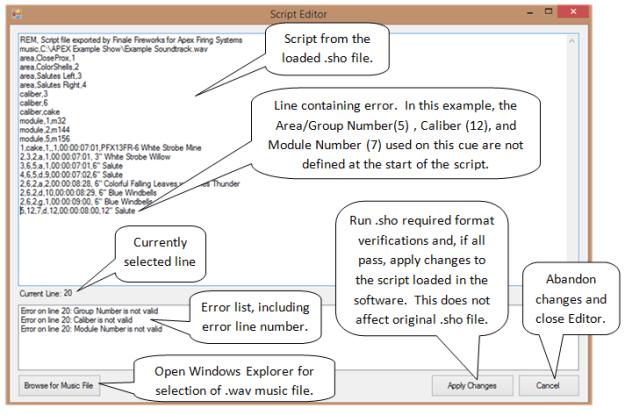APEX Script Editor Screenshot