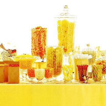 yellow-wedding-candy-buffet