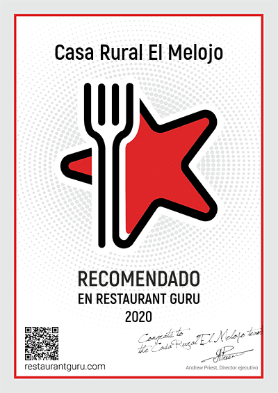 Casa Rural El Melojo ha sido Galardonado en Restaurante Guru