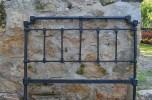 cama de forja restaurada