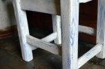 Detalle silla azul