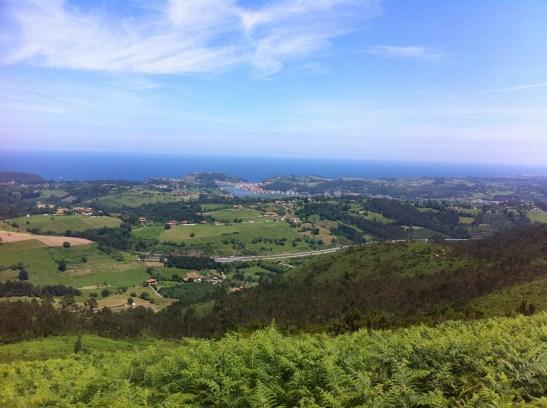 vista de Ribadesella desde la cuesta de Moru