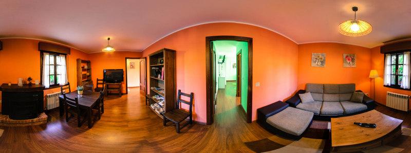 Salón casa rural el Fareru, Ribadesella.