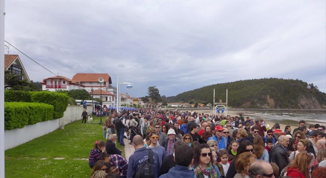 Playa de Santa Marina durante la carrera de caballos