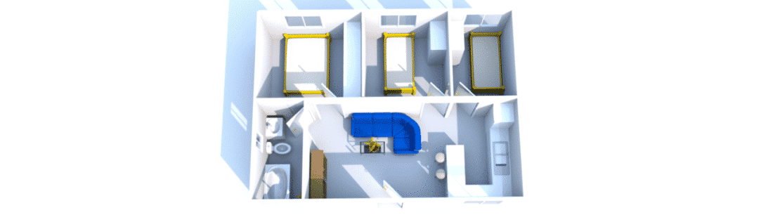 Casa prefabricada sobre pilares