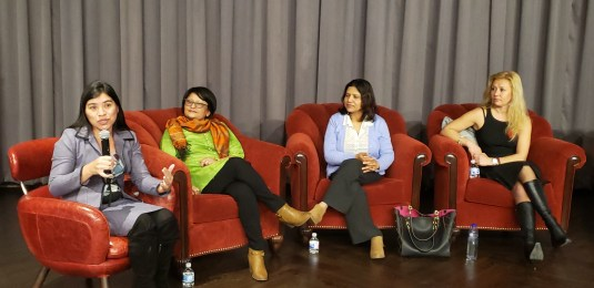 Talking about Latin women in the women's day organized by office of mayor