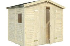 cobertizo de madera Dan de Casas Carbonell para herramientas