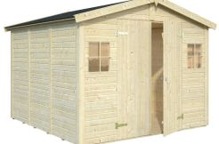 cobertizo de jardín Dan 7.7 de Casas Carbonell de paneles de madera