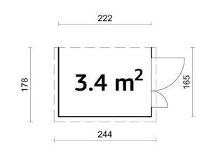 Plano de cobertizo de contenedores de madera Mia