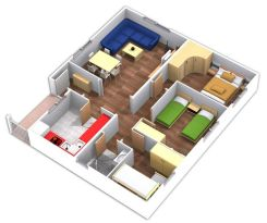 Planos de casas prefabricadas de modelo Ronda de Casas Carbonell