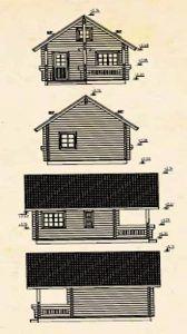 Alzados de Casas de Madera en KitJohanna