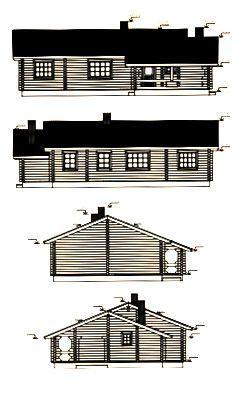 Alzados de casa en kit de madera Britta