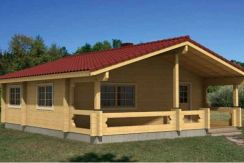 Casas de madera laminada en kit Ingrid