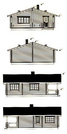 Alzados de casas de madera laminada en kit Ingrid