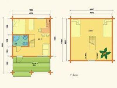 Plano de Casas de madera en kit Johanna