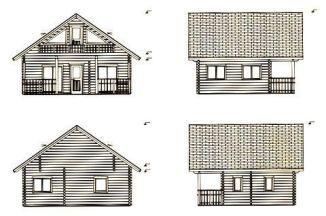 Alzados de Casas de madera maciza en kit Marta