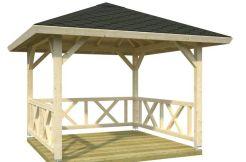 pergola de jardín Betty 9.0 Casas Carbonell madera laminada