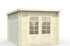 caseta jardín económica Ella 6.9 de Casas Carbonell en madera tratada