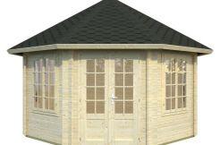 casitas de madera precios para jardín Hanna 14.1 de Casas Carbonell madera maciza