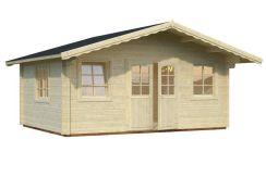 caseta de madera de jardín Helena 18.6 de Casas Carbonell en madera maciza de 70 mm