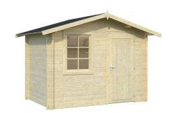 caseta económica para jardín Klara 4.7 de Casas Carbonell en madera tratada