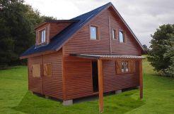 Casa de madera Nordica de Casas Carbonell en el campo