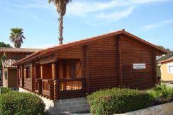 casa madera, modelo Primavera de Casas Carbonell de tronco macizo