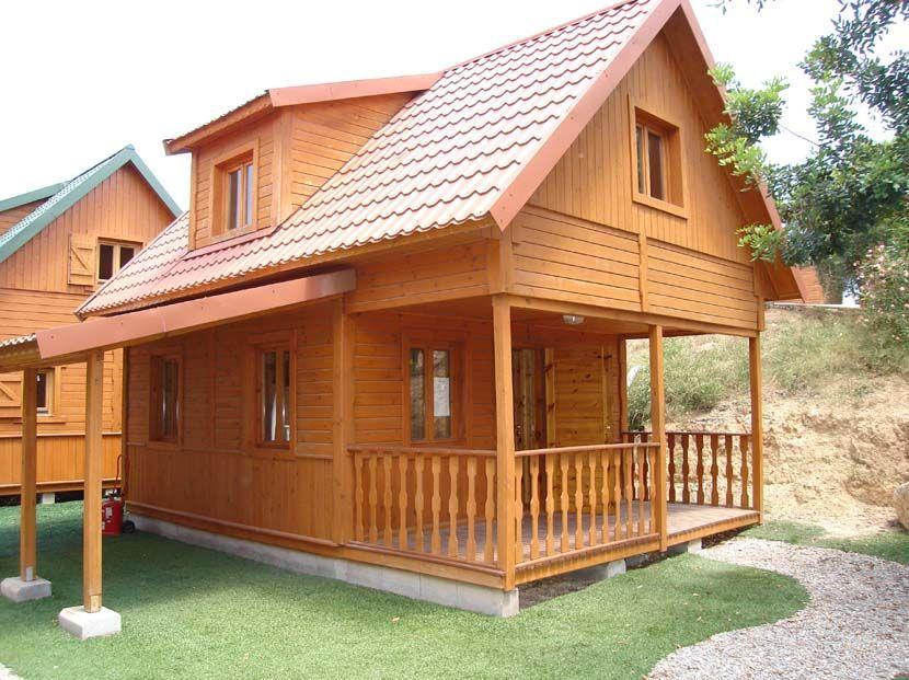 Casa abuhardillada de madera virgo 67 m casas carbonell - Casas de madera pequenas y baratas ...