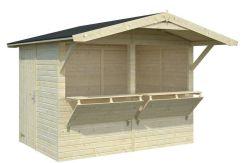 quiosco de madera Stella 5 de Casas Carbonell en madera de pino
