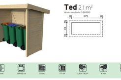 cobertizo contenedores de madera