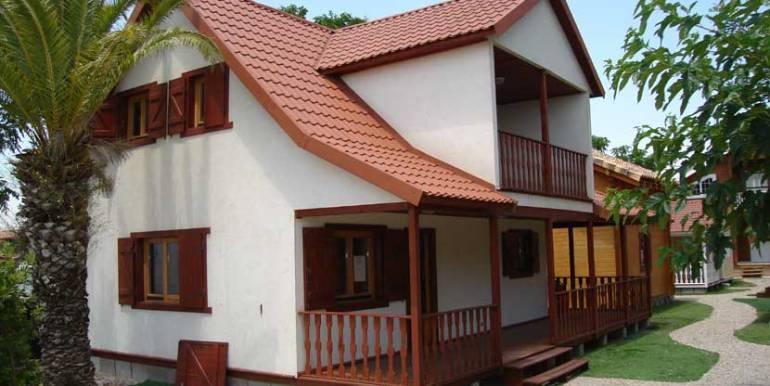 Oferta casa de madera prefabricada modelo lotus casas - Modelo casa prefabricada ...