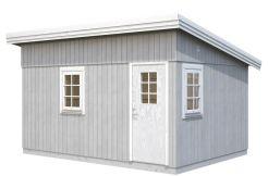 casita de jardín moderna Ethel 13.8 de Casas Carbonell en gris de madera tratada