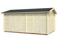 cobertizo de herramienta Jari 14.5 de Casas Carbonell de madera maciza