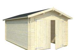 garaje Roger 16.3 de Casas Carbonell de madera maciza