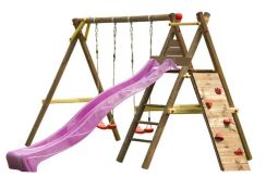 Columpio de madera infantil Bosse