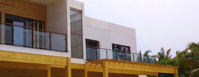 construcción de casa de madera en Mussulo