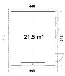 plano de Garaje Nórdico Andre 21,5