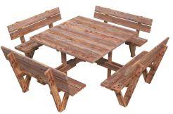 Mesa con bancos de jardín ARTHUR
