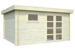 Cabaña para jardín de madera ELSA 11,3 m²