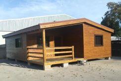 Casa de madera modelo Betera 80 con terraza