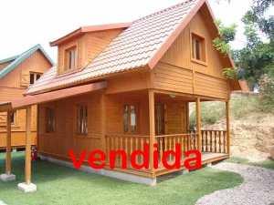 Oferta casa de madera abuhardillada
